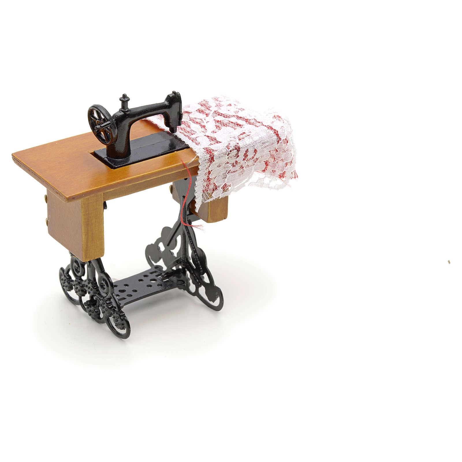 Machine à coudre en miniature pour crèche de noel 4