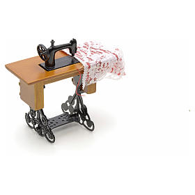 Nativity accessory, sewing machine for do-it-yourself nativities s4