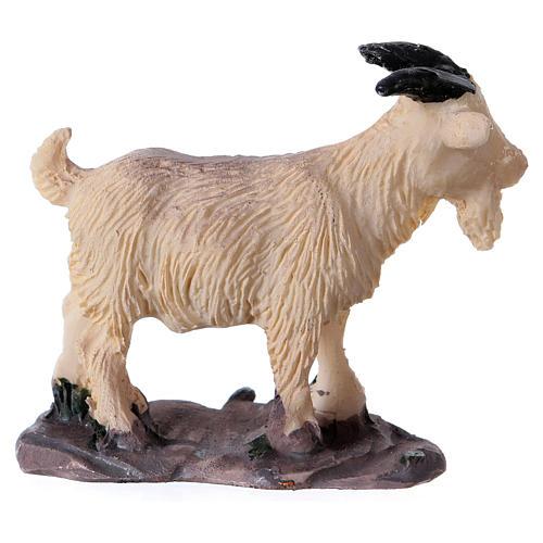 Ziege aus Harz für die Krippe h 6 cm 2