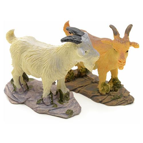 Chèvre pour crèche résine 10 - 14cm 1