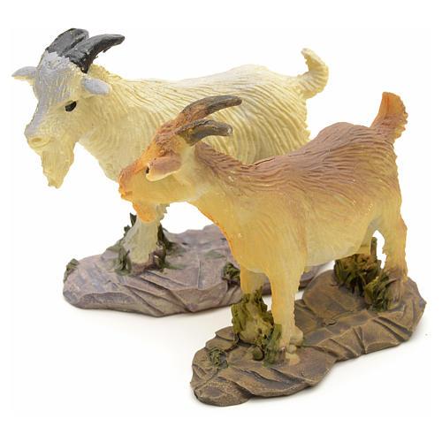 Chèvre pour crèche résine 10 - 14cm 2