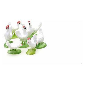 Nativity figurine, hens 10cm, set of 8 pcs s4