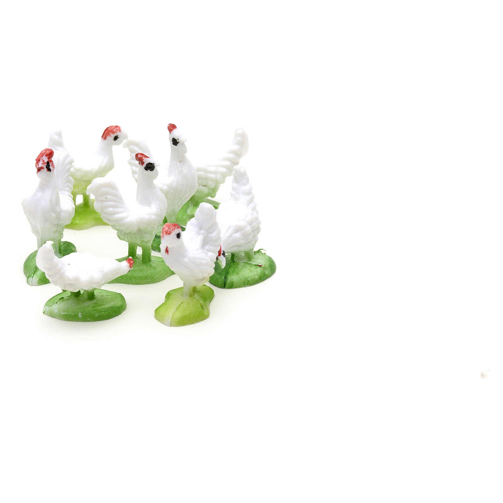 Nativity figurine, hens 10cm, set of 8 pcs 3