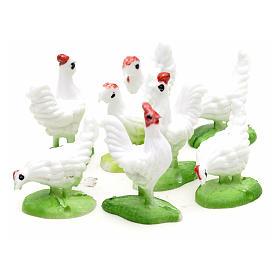 Nativity figurine, hens 10cm, set of 8 pcs s3