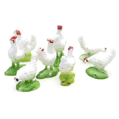 Nativity figurine, hens 10cm, set of 8 pcs 2