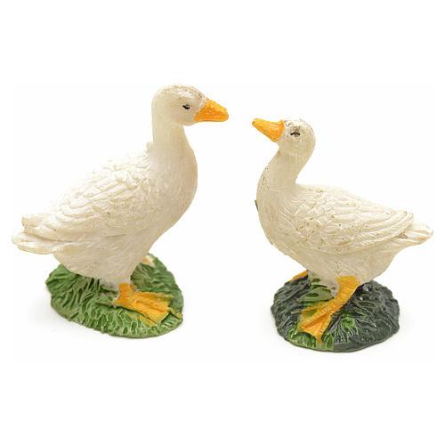 Patos en resina para pesebre set 2 pz 1