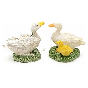Patos en resina para pesebre ser 2pz de 2,5cm s2