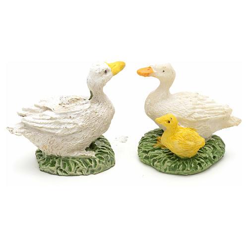 Patos en resina para pesebre ser 2pz de 2,5cm 2