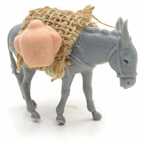 Nativity figurine, donkey with load measuring 10cm 2