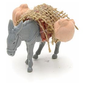 Asno con carga para el pastor de 10cm s3