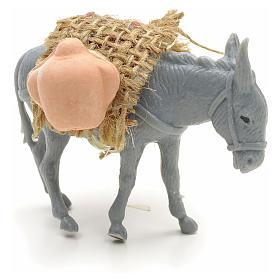 Asno con carga para el pastor de 10cm s6