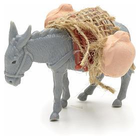 Asno con carga para el pastor de 10cm s1