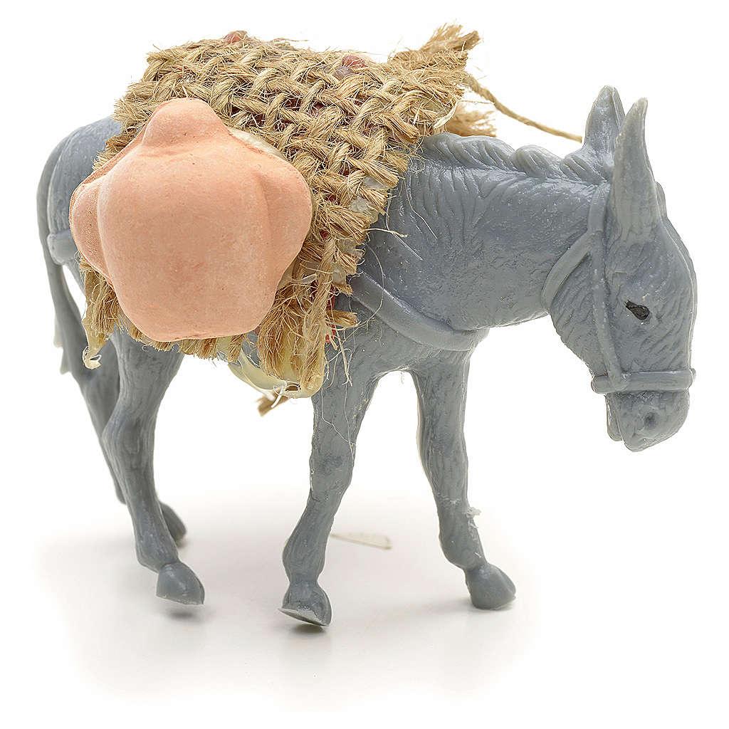 Asino con carico per pastore da 10 cm 3
