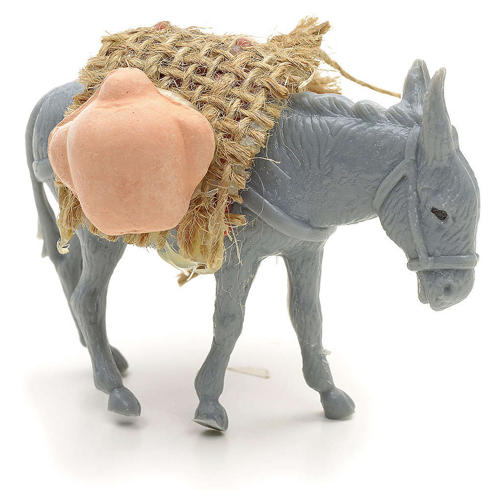 Nativity figurine, donkey with load measuring 10cm 3