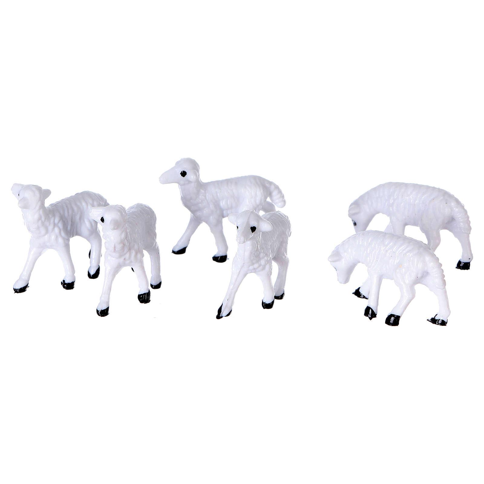Moutons de 3 cm pour crèche 3