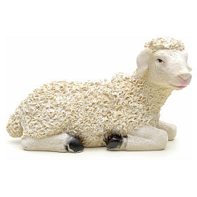 Nativity figurine, sheep in resin measuring 29x12x17cm s1