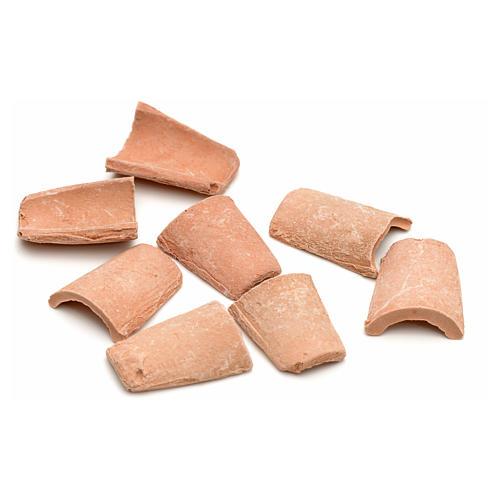 Tejas en terracota de cm 1,5 x 1 2