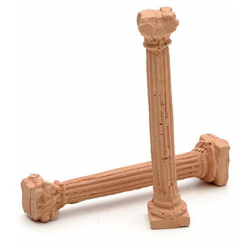 Nativity accessory, resin ionic columns, 7cm 2