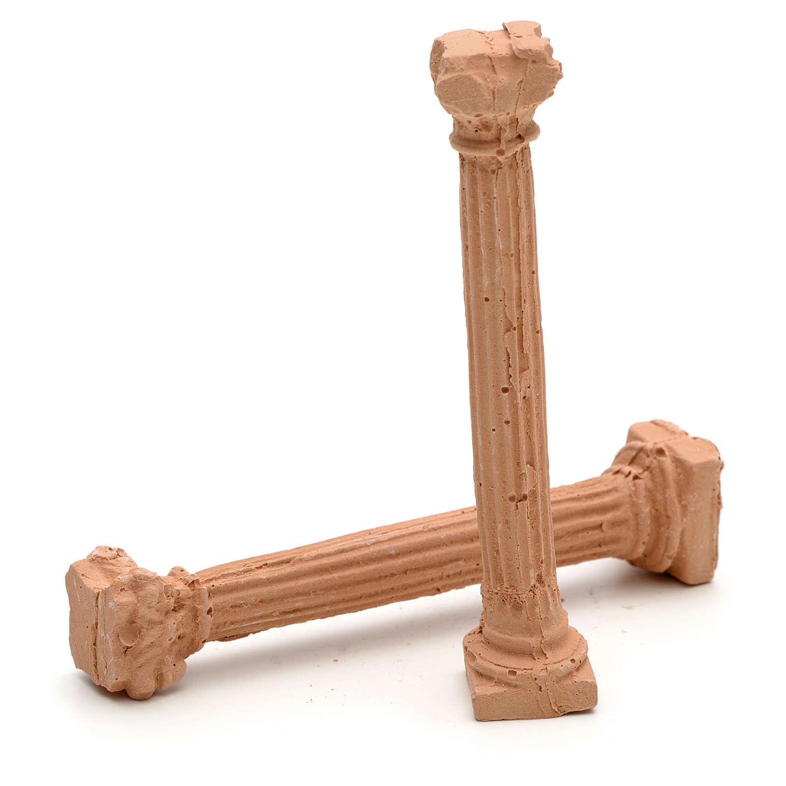 Colunas iónicas em resina 7 cm 4