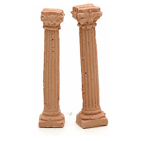 Nativity accessory, resin ionic columns, 7cm s1