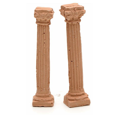 Nativity accessory, resin ionic columns, 7cm 1