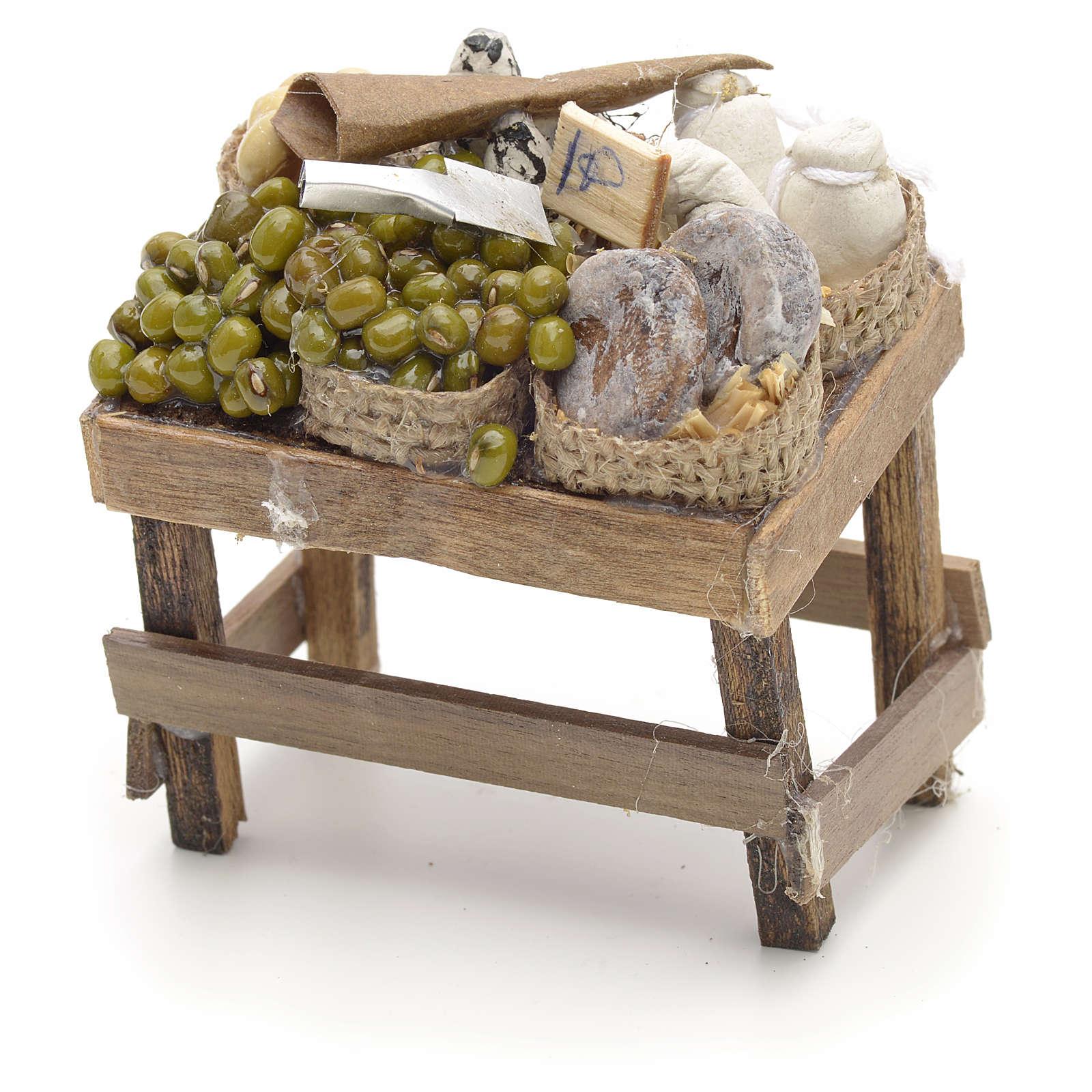 Neapolitan Nativity scene accessory, olive stall 4