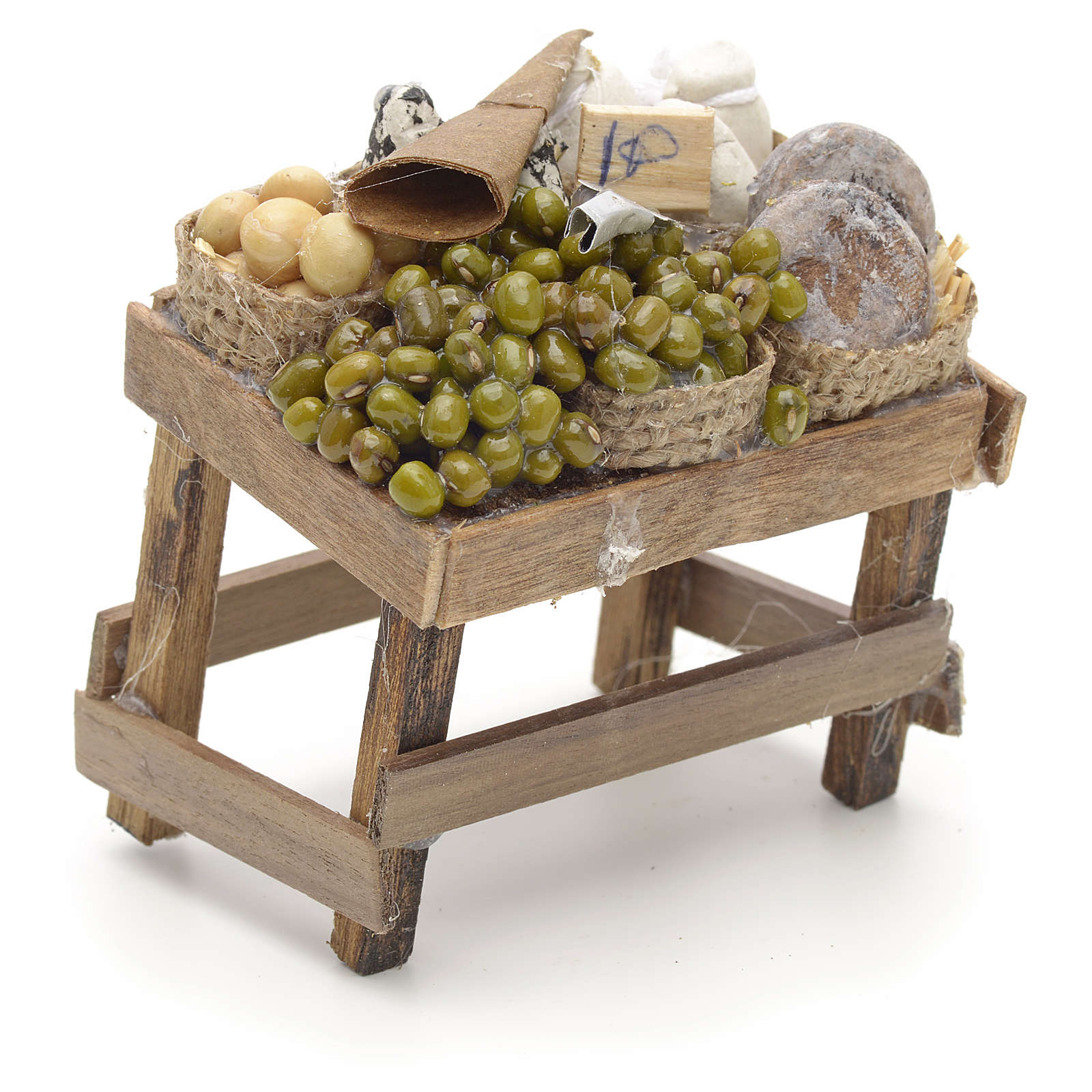 Banc des olives miniature crèche Napolitaine 4
