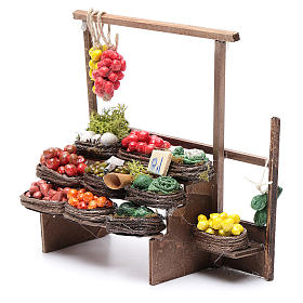 Banco de fruta pesebre artesanal Nápoles s2