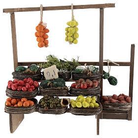 Banco de fruta pesebre artesanal Nápoles s1