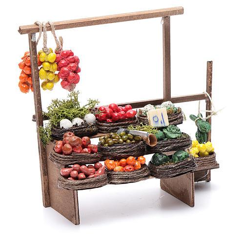 Banco de fruta pesebre artesanal Nápoles 3