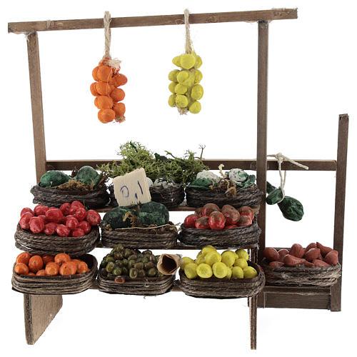 Banco de fruta pesebre artesanal Nápoles 1
