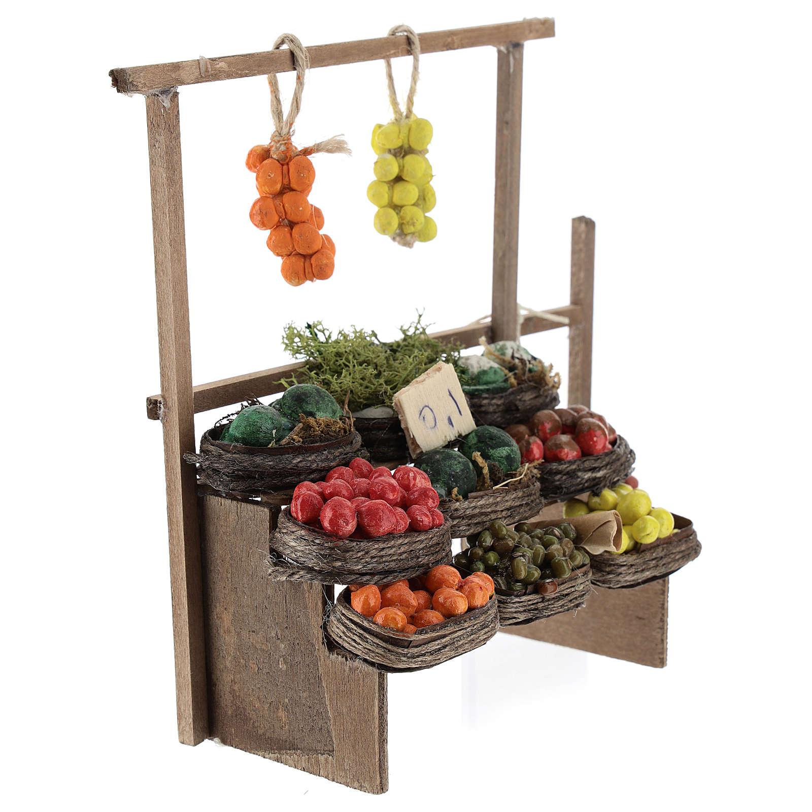 Banc des fruits miniature crèche Napolitaine 4