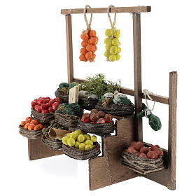Banc des fruits miniature crèche Napolitaine s2