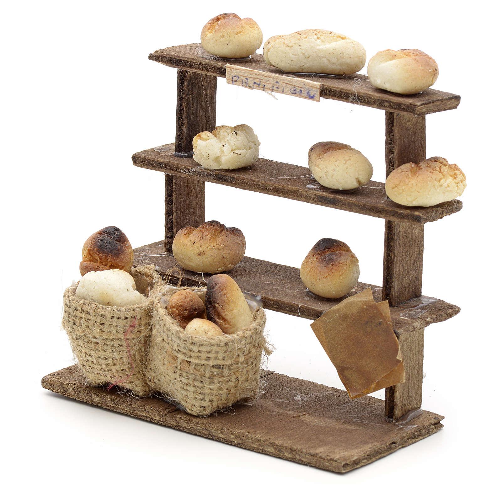 Étagères pain miniature crèche Napolitaine 4