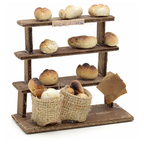 Étagères pain miniature crèche Napolitaine 1
