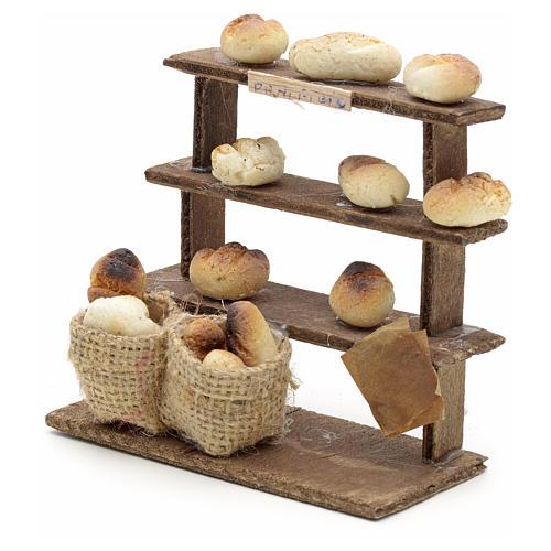 Étagères pain miniature crèche Napolitaine 2