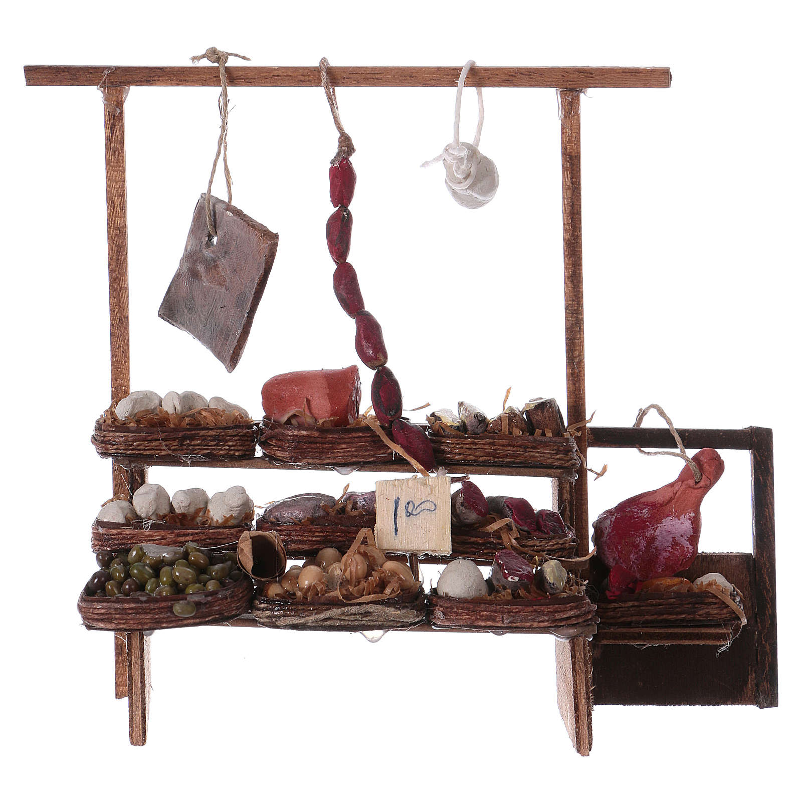 Neapolitan Nativity scene accessory, meat stall 4