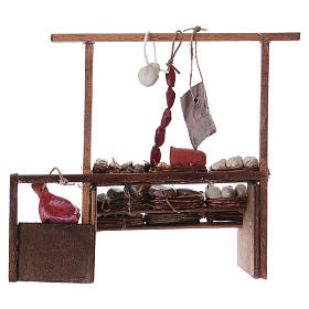 Neapolitan Nativity scene accessory, meat stall s4