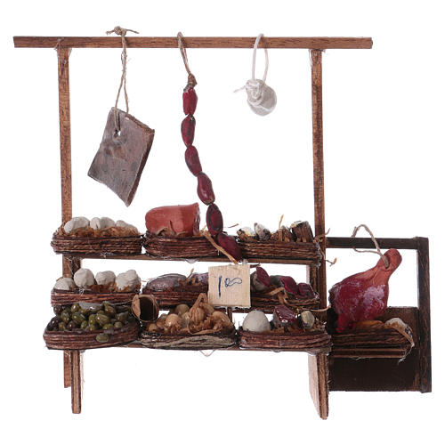 Neapolitan Nativity scene accessory, meat stall 1