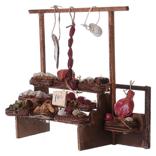 Neapolitan Nativity scene accessory, meat stall 2