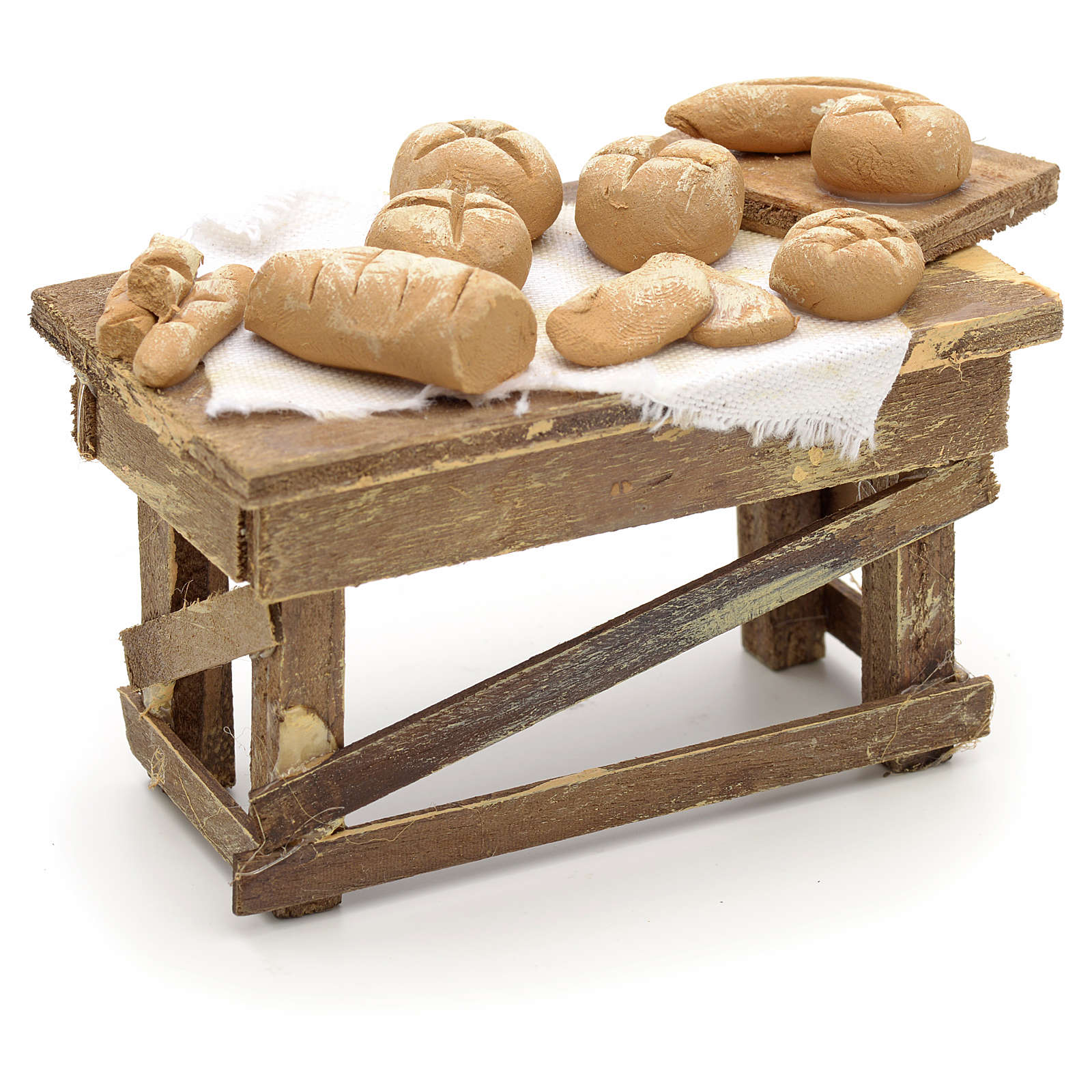 Neapolitan Nativity scene accessory, bread stall 4