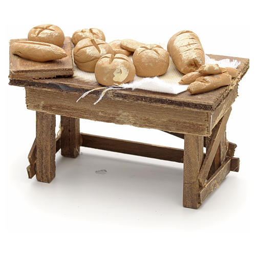 Neapolitan Nativity scene accessory, bread stall 2