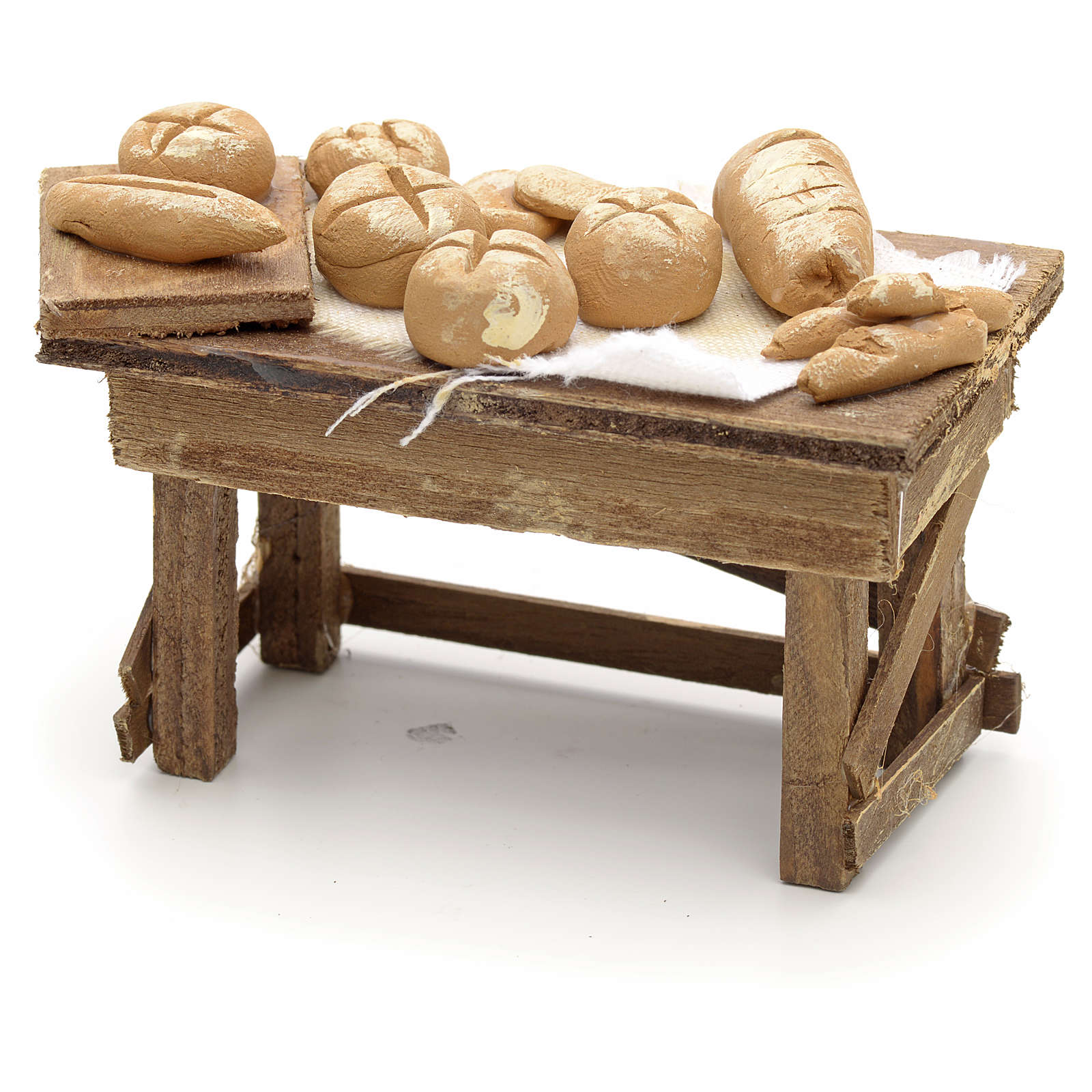 Table pour pain miniature crèche Napolitaine 4