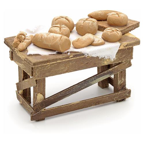 Table pour pain miniature crèche Napolitaine 1