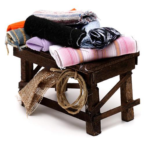 Neapolitan Nativity scene accessory, cloth table 2