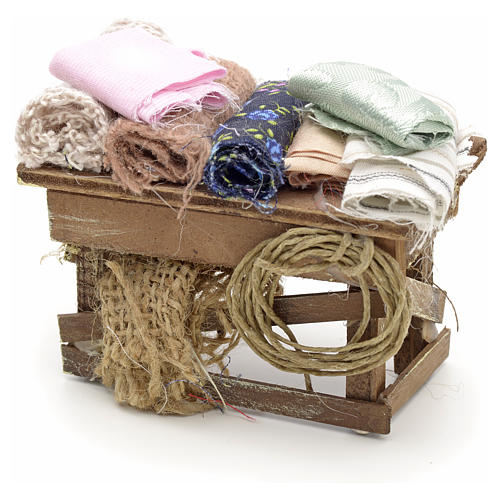 Neapolitan Nativity scene accessory, cloth table 1