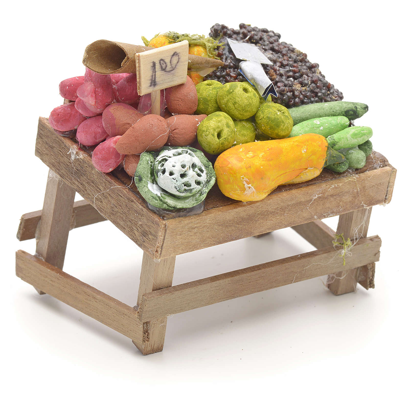Banco de la fruta pesebre napolitano 4