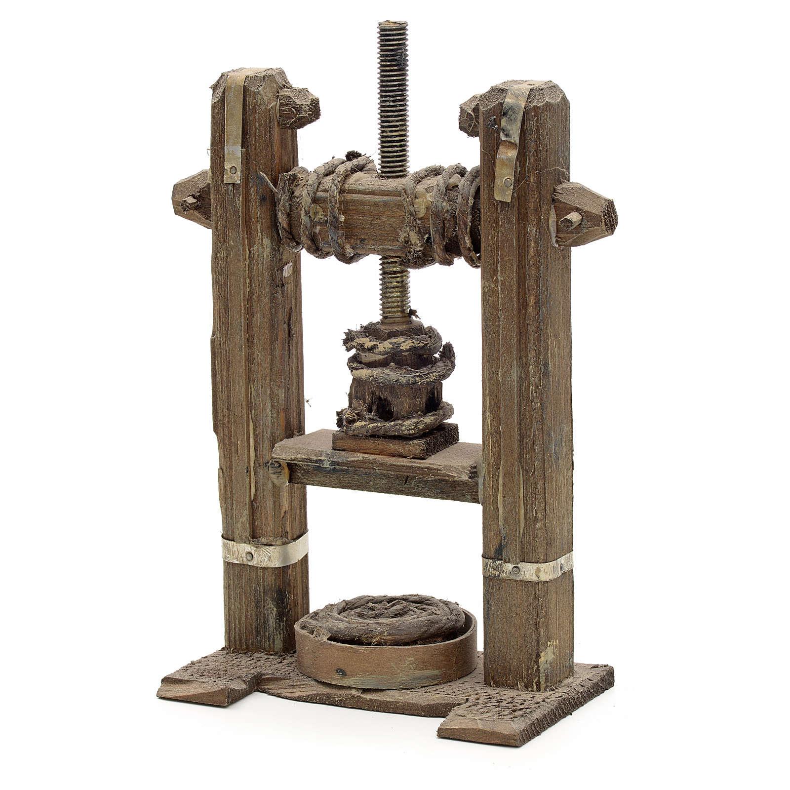 Presse en miniature crèche Napolitaine 4