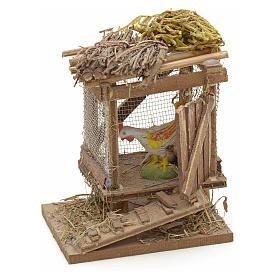 Poulailler en miniature avec poulet crèche Napolitaine s1