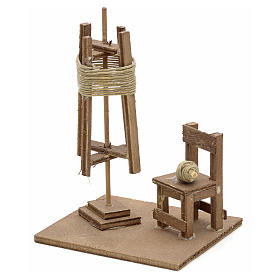 Spinnerei mit Stuhl neapolitanische Krippe s1